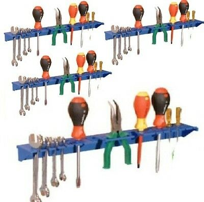 £15.89 • Buy Blue Tool Shelf Storage System Tool Tidy For Garage Shed Pack Of 4