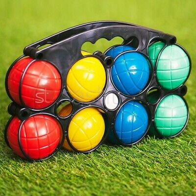 8 Plastic French Boules Balls Petanque Garden Party Outdoor Beach Game Toy Set  • 6.95£