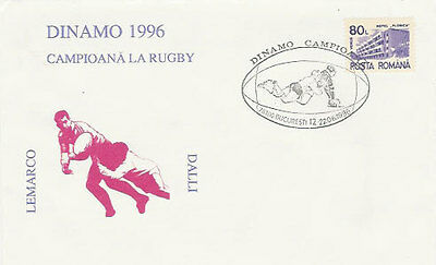26.6.96 Dinamo Bucharest Romanian Champions Illustrated Rugby Commcover • 4.49£