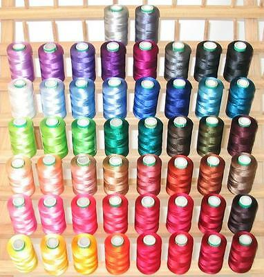 £49.52 • Buy New 60 Large Rayon Machine Embroidery Thread + Rack For Brother Janome Singer