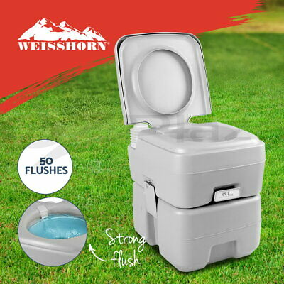 AU84.90 • Buy Weisshorn 20L Outdoor Portable Toilet Camping Potty Caravan Travel Camp Boating