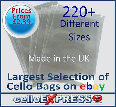 £6.29 • Buy Clear Cello Card Bags - Cellophane Display Bag For Cards & Photos - UK Post Free