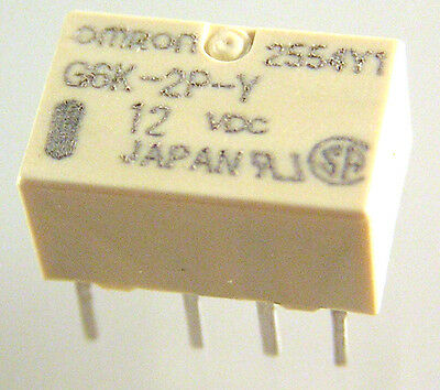 £5.99 • Buy Omron G6K-2P-Y 12V DC Double Pole Change Over Surface Mount Relay OLA1-15
