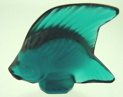 Angel Fish Blue Green By Lalique Crystal France • 88.67£