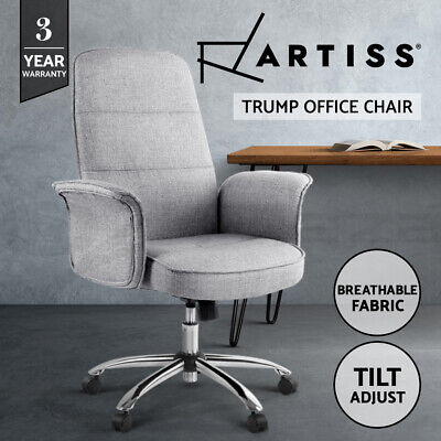 AU139.95 • Buy Artiss Fabric Office Chair Task Side Conference Computer Desk Chairs Seat Grey