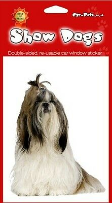 £2.49 • Buy Shih Tzu Breed Of Dog Double Sided Window Sticker Perfect Gift
