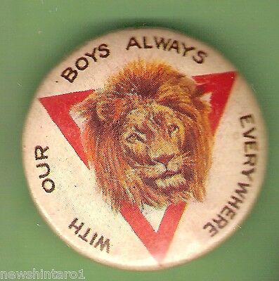 AU30 • Buy #e. Tin Badge - Ymca, With The Bys Always Everywhere, Lion