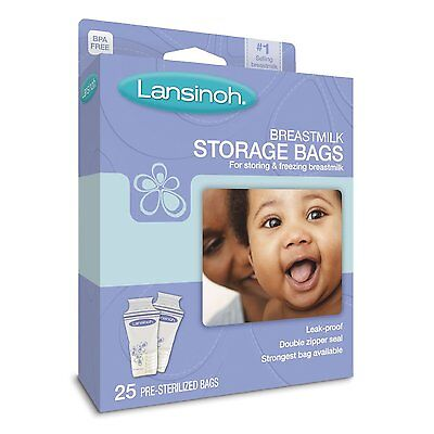 Lansinoh Breastmilk Storage Bags (25) - Fast Shipping - Great Price • 6.85£