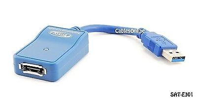£14.74 • Buy 6 Inch USB 3.0 SuperSpeed To ESATA Cable Adapter Bridge, SAT-E301