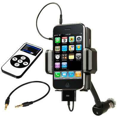 TRIXES FM Transmitter To Car Radio Kit For Apple IPhone Hands Free Holder • 8.49£