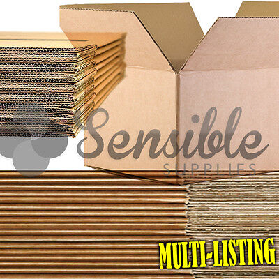 Quality Single & Double Wall Cardboard Boxes Postal Mailing Pack Fast & Free P+p • 15.10£