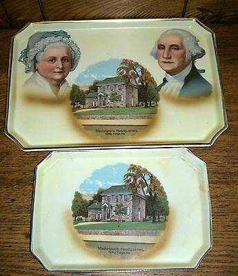 30s Tin Scenic Tray Souvenir Mt Vernon George Washington Red White Chic Shabby Cheapest Price From Our Site Decorative Arts Toleware