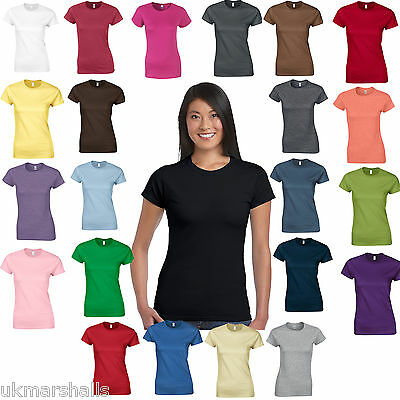 £4.77 • Buy Gildan SoftStyle™ Ladies Fitted Ringspun T-Shirt - 25 Colours - Sizes 8 -18