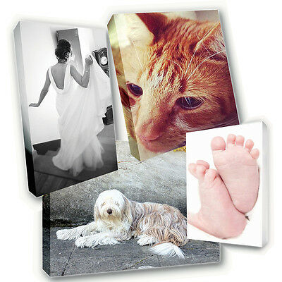 Personalised Canvas Printing - Your Photo Picture Image Printed & Box Framed • 5.99£