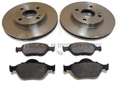 Ford Fiesta 2002-2007 Mk6 1.25 1.4 1.6 Zetec Front 2 Brake Discs And Pads New • 39.50£