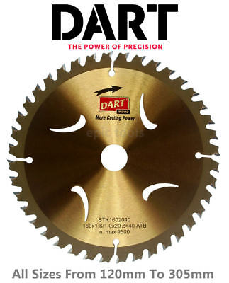 £21.85 • Buy DART Gold Series TCT Wood/Timber Cutting Circular Saw Blades,From 120mm To 305mm
