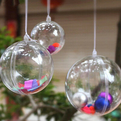 $18.85 • Buy Clear Plastic Fillable Ball Ornaments Hanging Decor, 6-Piece, 12-Piece