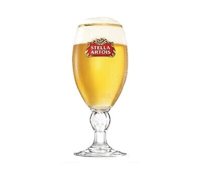 Personalised Engraved Branded 1 Pint Stella Artois Chalice Beer Glass + Gift Box • 13.99£