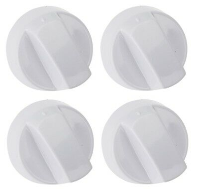 £5.45 • Buy 4 X White Cooker Oven Grill Hob Control Knob Dial & Adaptors For Creda & Belling