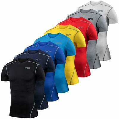 Mens Boys Compression Armour Base Layer Short Sleeve Thermal Under Top Shirt New • 11.99£
