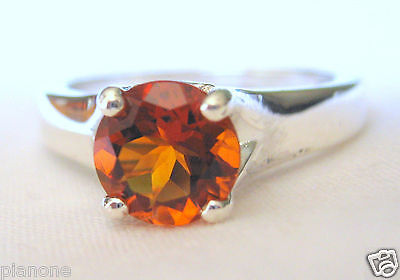 £49.68 • Buy 1.20 Ct Round Madeira Citrine Gemstone Ring Sterling Silver .925 Solitaire