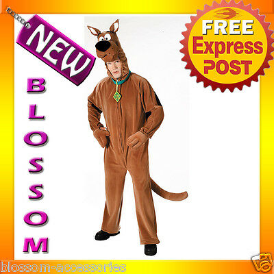 C135 Mens Deluxe Adult Scooby-Doo Halloween Costume M-L • 44.47£