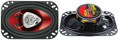 AU38.60 • Buy BOSS CH4620 4 X 6 Inch 200W 2 Way Car Coaxial Audio Speakers Stereo, Red (Pair)
