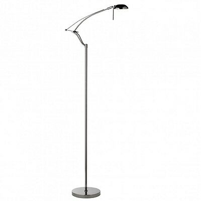 Searchlight Black Chrome Articulated Floor Standing Reading Lamp 4881BC • 39.99£