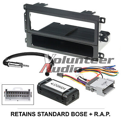 $43.94 • Buy Car Radio Stereo CD Player Dash Install Mounting Trim Bezel Panel Kit + Harness