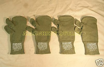 $13.99 • Buy 2 Pair Large Military WOOL MITTEN INSERTS W/ Trigger Finger USED Free Shipping