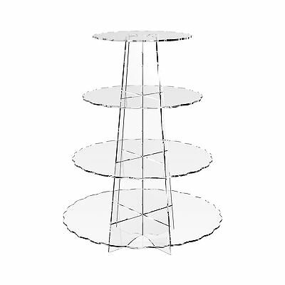 £15.52 • Buy Acrylic Cupcake Display Stand Cup Cake 4 Tier Wedding Party Riser - Scallop