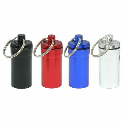 $7.99 • Buy 6pc Medium Size Pill Containers ID Holder W Key Chain WATER RESISTANT US SHIPPER