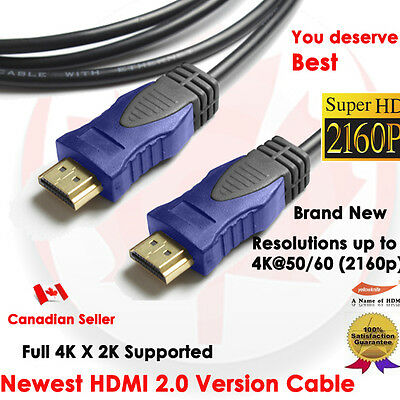 $ CDN5.68 • Buy YellowKnife Premium 3 FT HDMI 2.0 Cable With Ethernet 24K Gold Plated - 4K X 2K