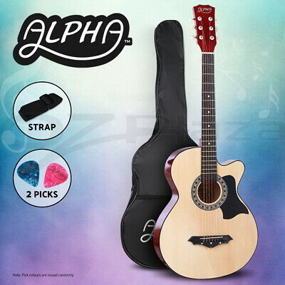 "AU67.90 • Buy Alpha 38"" Inch Acoustic Guitar Wooden Folk Classical Cutaway Steel String Nature"