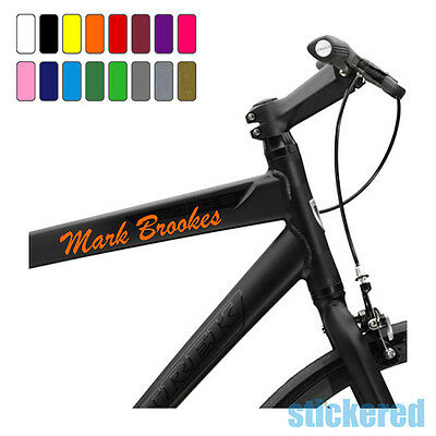3 X PERSONALISED BIKE BICYCLE FRAME NAME STICKERS FOR CYCLE MOUNTAIN BMX RACING • 2.75£
