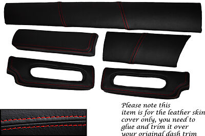 $ CDN191.40 • Buy Red Stitch Fits Lotus Elise Exige S1 96-01 Five Piece Dash Kit Lthr Covers Only