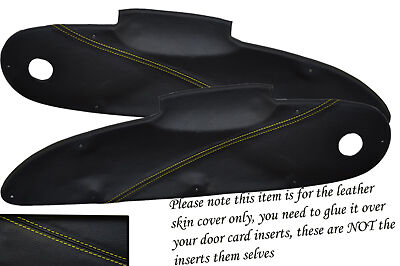 $ CDN123.77 • Buy Yellow Stitch Fits Lotus Elise Exige S1 96-01 2x Door Card Insert Leather Covers