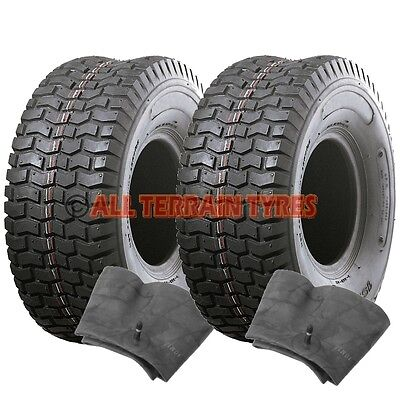 18x650-8 18x6.50-8 Ride On Lawn Mower Tractor Turf  PAIR TYRES & TUBES Free Post • 59.90£