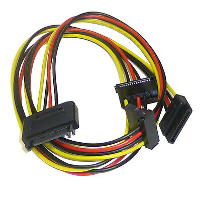 £3.99 • Buy SATA 3 Way Power Splitter Cable Lead - Turn 1 SATA Power Connector Into 3