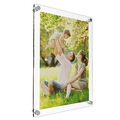 Acrylic Photo Frame Poster Wall Picture Holder Perspex Clear Display A5 A4 A3 A2 • 18.51£