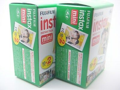 £36.99 • Buy 2 X FUJI INSTAX MINI FILM 20 Pack For 7 8 9 25 50 70 90 By 1st CLASS ROYAL MAIL
