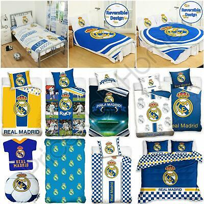 Official Real Madrid Single & Double Duvet Covers Football Bedding, Cushions • 22.95£