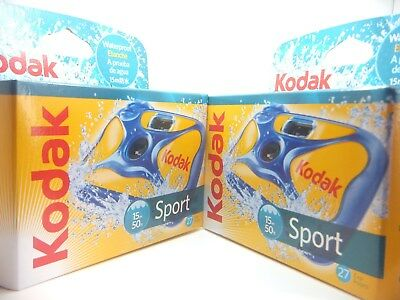 £32.99 • Buy 2x KODAK SPORT UNDERWATER WATERPROOF DISPOSABLE 35mm CAMERA Ist CLASS ROYAL MAIL