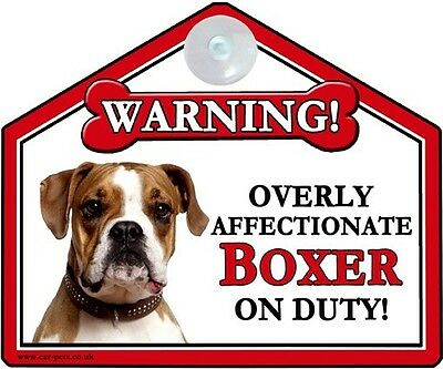 Boxer Breed Of Dog Window Suction Sign Perfect Gift • 3.95£