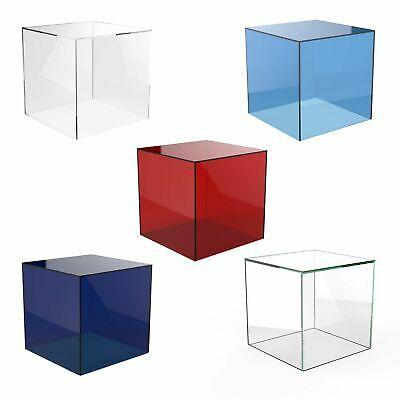 Acrylic Cube Display Stand Square 5 Sided Box Perspex Tray Retail Shop Holder • 7.84£