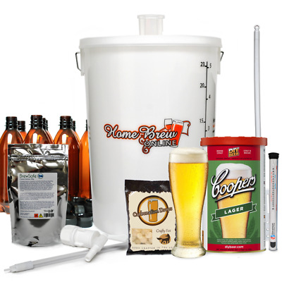 Complete Home Brew Lager Beer Ale Cider Making Starter Kit - CHOICE OF STYLES • 74.95£
