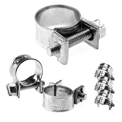 £2.85 • Buy HOSE PIPE CLAMPS - MINI CLIP TYPE - SMALL DIAMETER - 7mm To 20 Mm - Buy 1 To 10