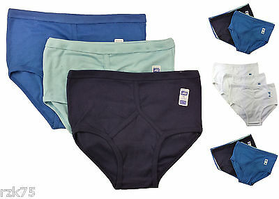 6 Pairs Men's Y-Fronts Underpants, 100% Pure Cotton Underwear, M L XL XXL • 9.95£