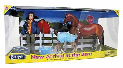 £69 • Buy Breyer Classics 1:12th Horse And Pony New Arrival At The Barn Set No 61084