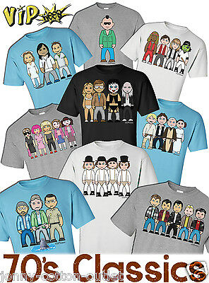 VIPwees Mens T-Shirt 70`s Classic Movies Inspired Caricatures Choose Your Design • 12.99£